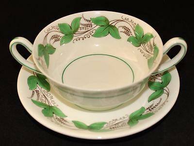 Royal Doulton, Castleford, GREEN, Cream Soup Bowl & Liner