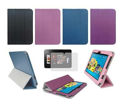 """Folio Smart Cover Case and Screen Protector for Amazon Kindle Fire HD 8.9"""" 2012"""