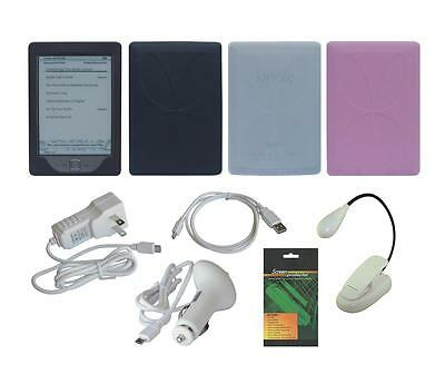 "8 Item Accessory Bundle Charger Skin Case for Amazon Kindle 6"" 2012 4th Gen"