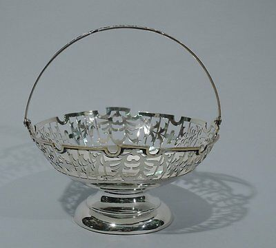 Export Basket - Antique Footed & Openwork - China Trade - Asian - Chinese Silver