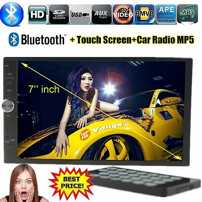 7'' HD Touch Screen Bluetooth Car Stereo Radio Player 2 DIN Handsfree USB/AUX/TF