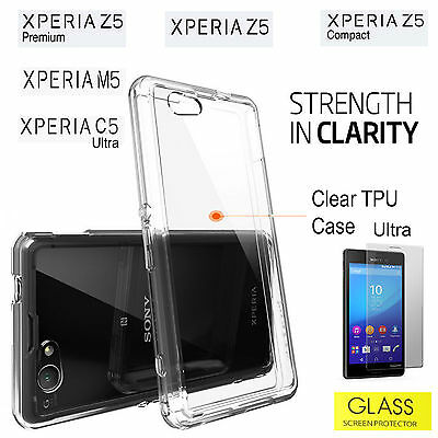 Sony Xperia C5 Ultra M5 Cover Z5 Z5 Premium Z5 Compact Clear Protective TPU Case