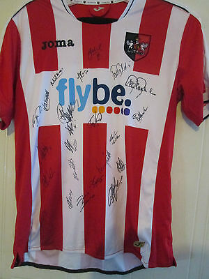 Exeter 2013-14 Squad Signed Home Football Shirt BNWOT ECFC letter coa /39535