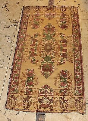 Antique Original 18Th Century  Handmade Silk Ottoman Bursa Islamic Textile