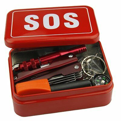 Outdoor Emergency SOS Survival EquipmentTin Preppers Bushcraft, Camping /Hiking