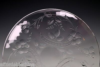 St Louis French Crystal VIRGINIA Cut Finger Bowl Under Plate - RARE