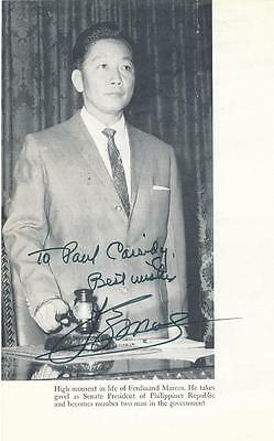 President of the Philippines Ferdinand Marcos- Signed Book Stock Photograph