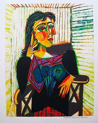 "Pablo Picasso DORA MAAR Estate Signed Limited Edition Art Giclee 26"" x 20"""