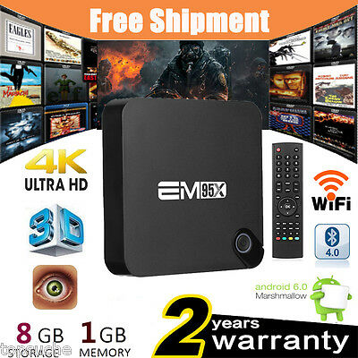 T95M Android6.0 4K*2K 1080P Quad Core Fully Loaded TV BOX 8GB Smart Media Player