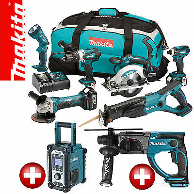 makita lxt 18v akku werkzeug set bmr100 bhr261 36v kombihammer bvc02 adapter eur. Black Bedroom Furniture Sets. Home Design Ideas