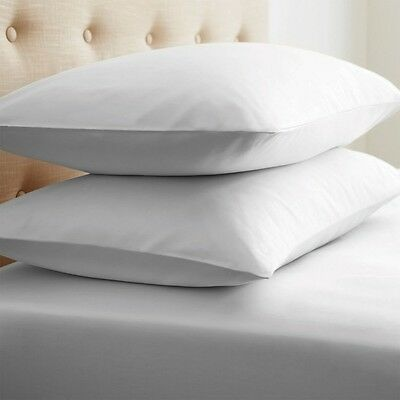 2 Pillow Cases Covers Standard 20X30 Super White T-180 Hotel-Endevours Spa New