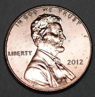United States 1 Lincoln Shield Cent 2012 P BU USA Penny UNC KM# 468