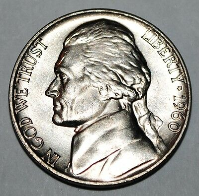 United States 5 Cents 1960 P Jefferson Nickel BU USA UNC KM# A192