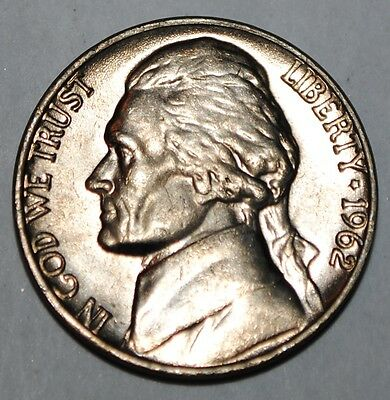 United States 5 Cents 1962 P Jefferson Nickel BU USA UNC KM# A192
