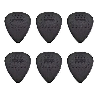 6 X Jim Dunlop Max Grip Nylon 1.00mm Gauge Grey Guitar Picks *NEW* Free Post
