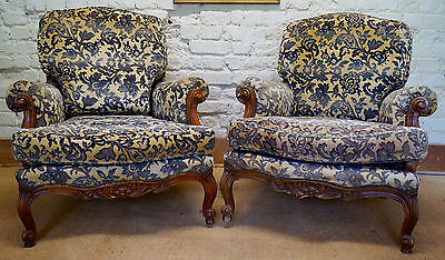 Pair of French Vintage Louis XV Armchairs inc. Reupholstery (exc. Fabric)