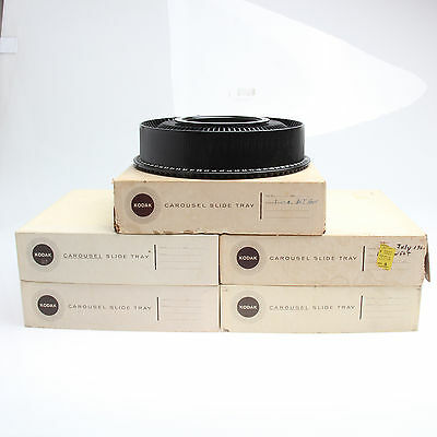Kodak Carousel 80 Slot Slide Tray with Box (5 Pack) ~