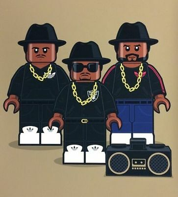 LEGO RUN DMC Giclee Print Numbered Limited Edition Dan Shearn #4/20 HipHop Rap