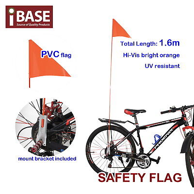 Safety Flag Bicycle Childs Kids Bike Mobility Scooter Pram Fluro Orange 1.6m