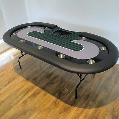 "THE SPADE 90"" OVAL POKER TABLE w/ DEALER SPOT & CHIP TRAY"