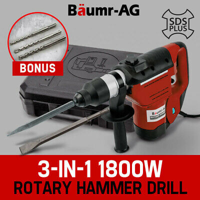 Baumr-AG 1800W Demolition Rotary Jack Hammer Jackhammer 3-in-1 SDS Plus Drill