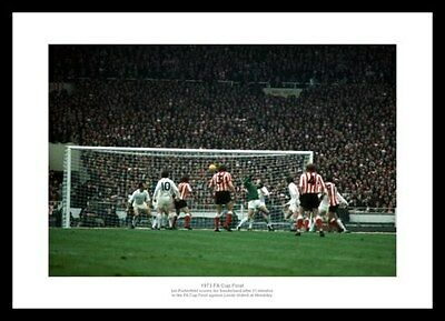 Sunderland AFC 1973 FA Cup Final Ian Porterfield Goal Photo Memorabilia (397)