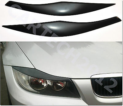 Fits BMW E90, E91 Headlight  Eyebrows, Eyelids Cover ABS PLASTIC, tuning