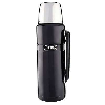 Genuine Thermos 1.2L Stainless Steel King Hot Cold Coffee Tea Storage Flask Blue