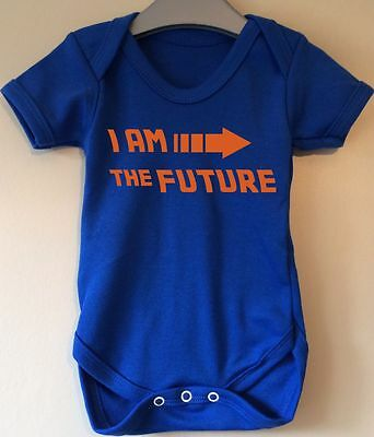 I Am The Future Back To The Future Inspired Baby Body Grow Vest
