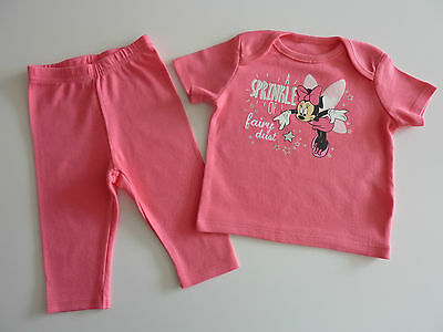 """DISNEY Really Cute MINNIE MOUSE """"A Sprinkle of Fairy Dust"""" Pink PJ's NEW"""