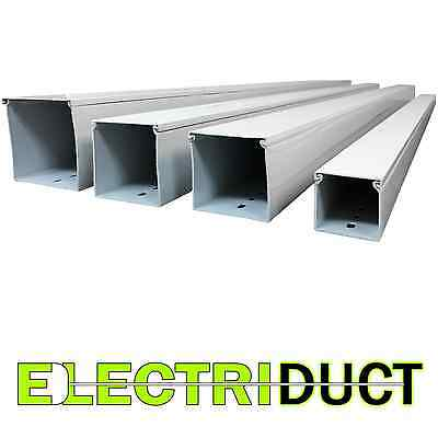"""3"""" x 3"""" Solid Wall Wire Duct - 10 Sticks -Total Feet: 66FT - White - Electriduct"""