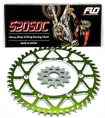 Flo Motorsports Green Sprocket With O-Ring Chain Combo Kit Set Kx250F 14/48T