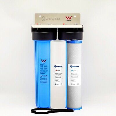 "Whole House  Water Filter System 20"" x 4.5"" Big Blue (2 stages) Sediment Carbon"