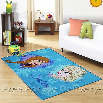 KIDS EXPRESS ELSA & ANNA KIDS FUN FLOOR RUG (XS) 100x150cm **FREE DELIVERY**