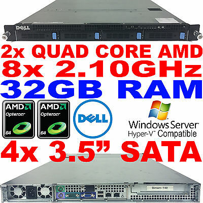 Dell PowerEdge CS24-NV7 Rack Server Twin AMD Quad Core 2.1GHz 32GB RAM SATA RAID