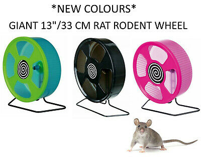 "Trixie Giant Solid Plastic Large Rat Rodent Cage Wheel And Stand 33Cm 13"" 61012"