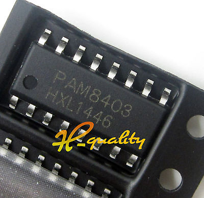 10Pcs Pam8403 Diodes Ic Amp Audio 3W Class D 16Soic New