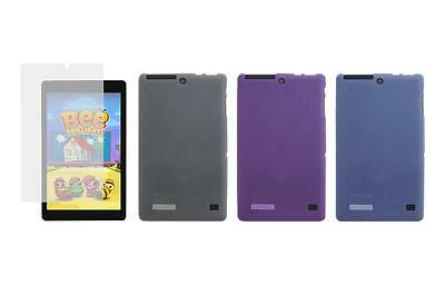 TPU Gel Skin Cover Case + Screen Protector for Nextbook Ares 8L NXA8LTE116