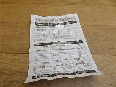 Homebase Value Towel Rail Chrome Plated Manual Booklet Instructions 522895