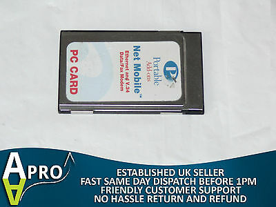 Portable Addons / Olicom Oc-2232 Modem+Lan Combo Laptop Pcmcia Card - Uk Seller