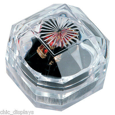 Lot Of (12) Acrylic Ring Boxes Wholesale Jewelry Ring Boxes Showcase Displays