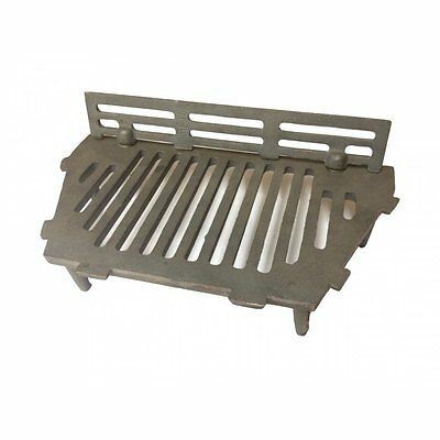 "A.L. Cast Iron Bottom Fire Grate Complete With Coal Guard - 16"" Open Fire"