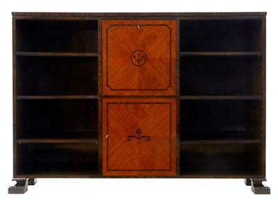 Early 20Th Century Birch Art Deco Open Bookcase