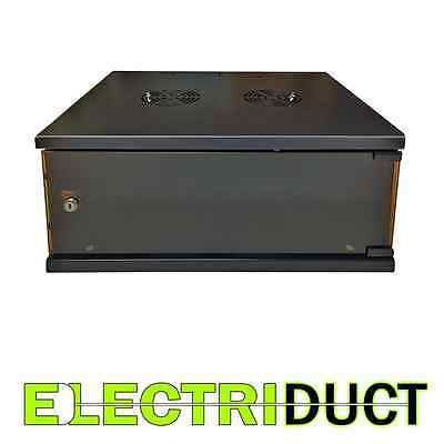 4U E-Pro Series Wall Mount Cabinet Rack Enclosure - Black - Electriduct