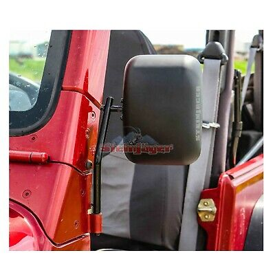 Steinjager J0029733 Pair of Mirrors/Mounting Arms w/Spotter Mirror for Wrangler