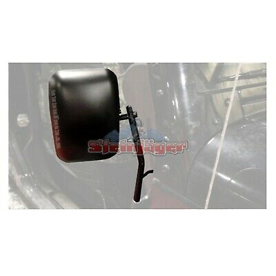 Steinjager J0029732 Pair of  Mirrors/Mounting Arms w/Spotter Mirror for Wrangler