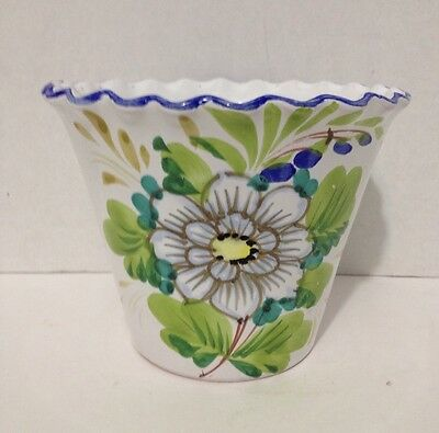 Vintage Jay Willfred Hand Painted Italian Planter Marked And Numbered