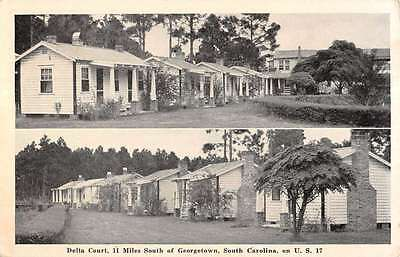 Georgetown South Carolina Delta Court Multiview Antique Postcard K12412