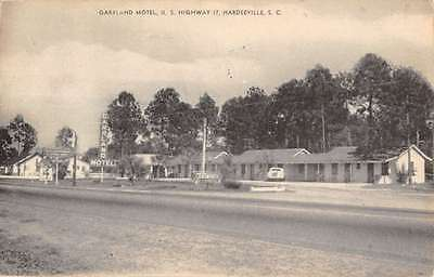 Hardeeville South Carolina Garrland Motel Antique Postcard K12363