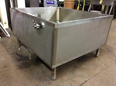 Precision Stainless Co. Rectangular Jacketed Tank Open Top